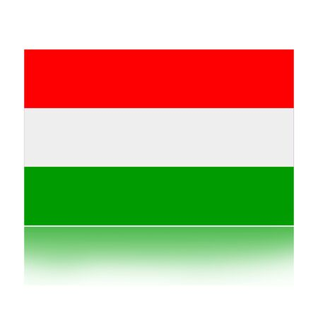Flag of Hungary illustration isolated over white background Stock Illustration - 10915484