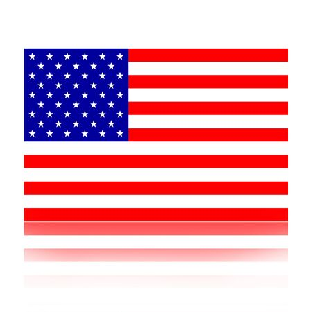Flag of the United States of America illustration isolated over white background illustration