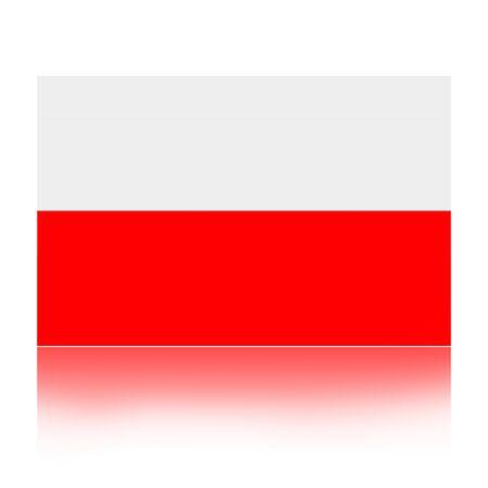 polish flag: Flag of Poland illustration isolated over white backgroun Stock Photo