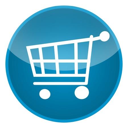 orden de compra: Cesta de la compra aislados sobre fondo blanco Foto de archivo