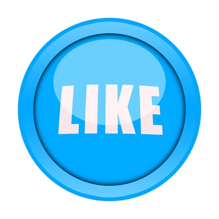 Like button isolated on white background photo