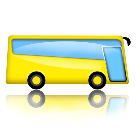 public safety: Bus illustration isolated over white background