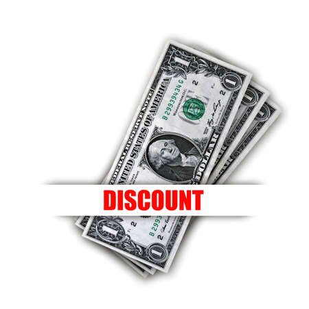 proposition: Special offer discount will save you money Stock Photo