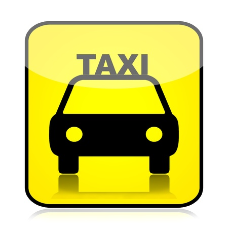 taxicab: Taxi sign isolated over white background