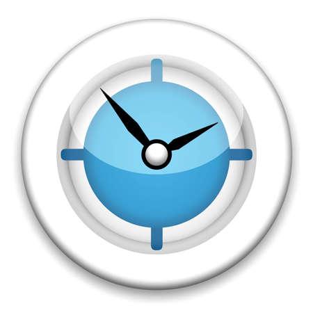 chronologie: Illustration d'horloge moderne sur fond blanc