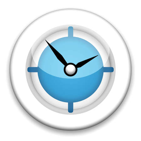 Modern clock illustration on white background illustration