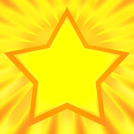 Shining star bright golden background