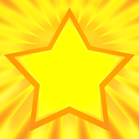 Shining star bright golden background photo