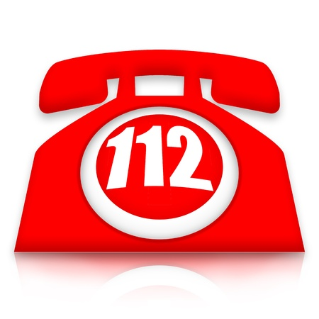 112 emergency phone Stock Photo - 13254340
