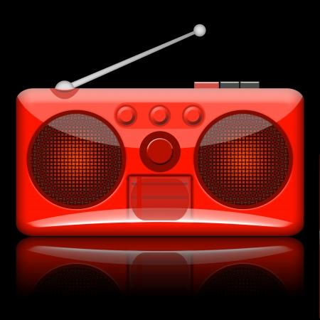 Radio retro illustration isolated on black background Stock Illustration - 13254341