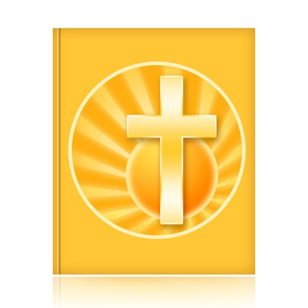 protestantism: Bible Book with Christian Cross