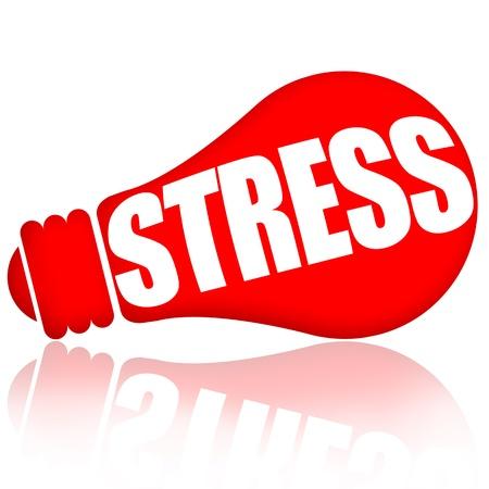 赤いランプの白い背景で隔離ストレス概念