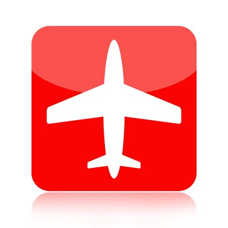 Airplane icon isolated on white background photo