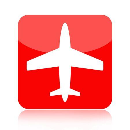 Airplane icon isolated on white background photo
