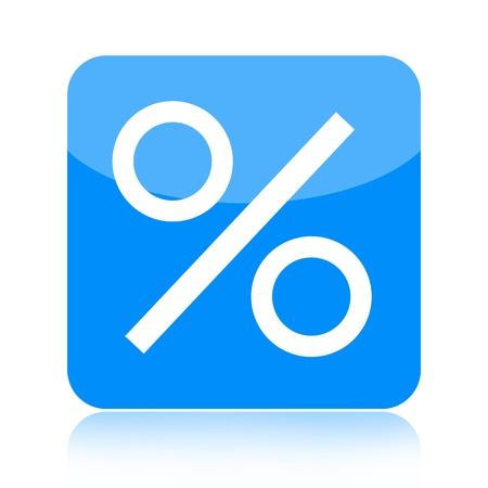 Percent icon isolated on white background photo