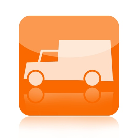 Van icon isolated on white background photo