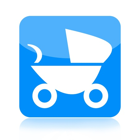 Baby carriage icon photo