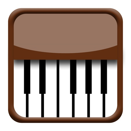 piano roll: Piano icon isolated on white background