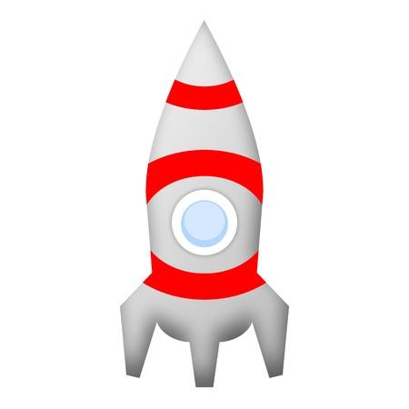Rocket space ship illustration isolated on white background illustration