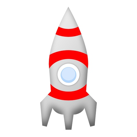ballistic: Rocket space ship illustration isolated on white background