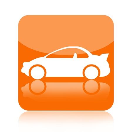 piezas coche: Icono Deporte coche aislado sobre fondo blanco