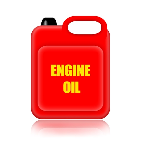 lube: Engine oil canister illustration isolated on white background