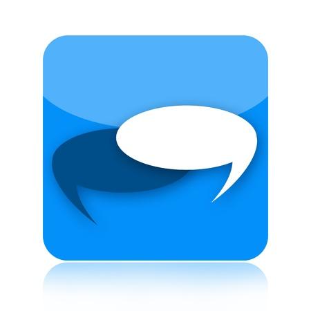 Talk bubbles icon photo