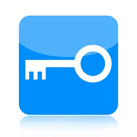 secure security: Key icon isolated on white background