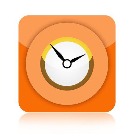 Clock icon isolated on white background photo