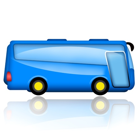 conductor autobus: Bus ilustraci�n aislado sobre fondo blanco