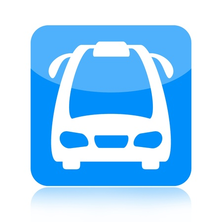 Bus icon isolated on white background