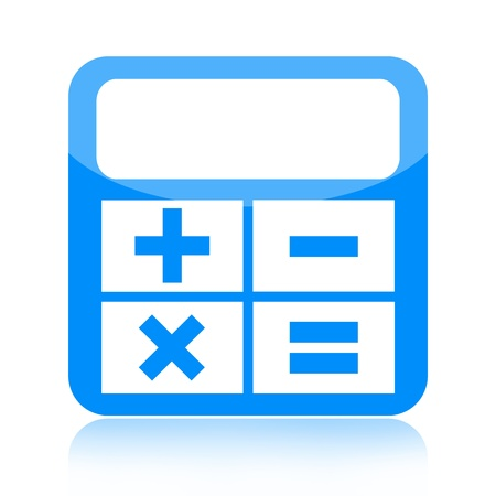 Calculator icon isolated on white background photo