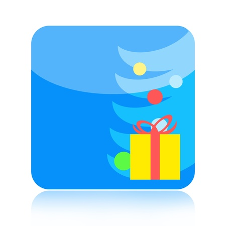 Christmas icon isolated on white background Stock Photo - 15533133