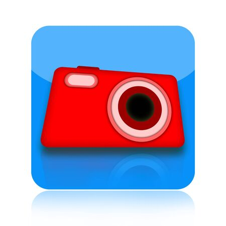 Digital photo camera icon isolated on white background photo