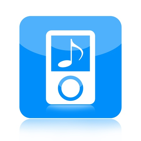 Mp3 music player icon isolated on white background photo