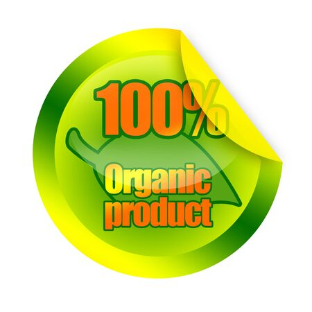 Organic product sticker photo