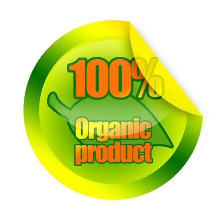 Organic product sticker Stock Photo - 17530369