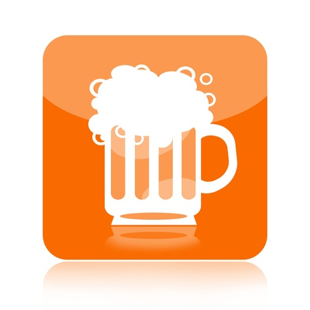 Beer icon isolated on white background Stock Photo - 17530370