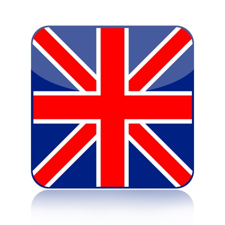 British flag icon isolated on white background photo