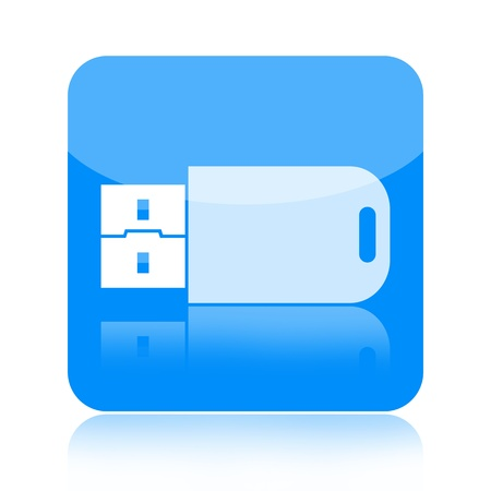 micro drive: USB flash drive icon isolated on white background
