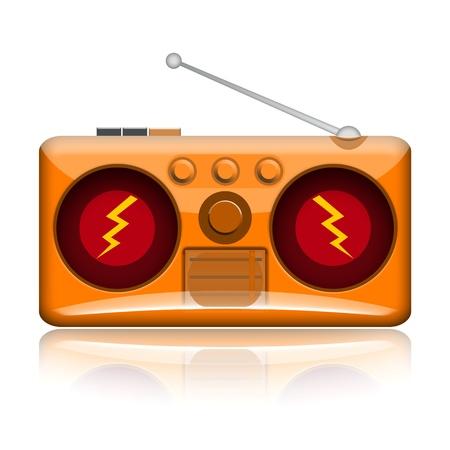 Loud music radio illustration isolated on white background Stock Illustration - 17684241