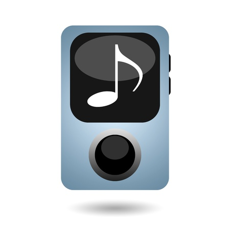 mp3 player: Portable mp3 music player isolated on white background Stock Photo