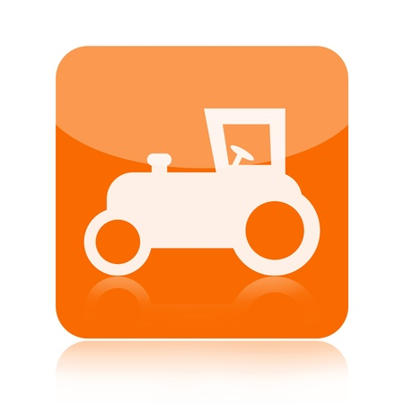 Tractor icon isolated on white background photo