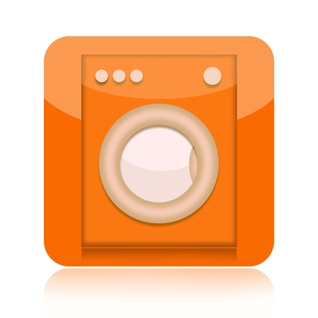 Washing machine icon isolated on white background photo