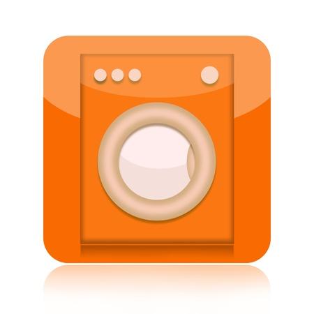 automat: Washing machine icon isolated on white background
