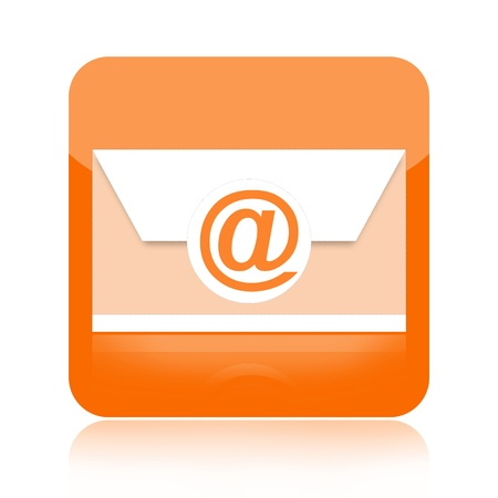 Email icon isolated on white background photo