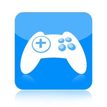 Joystick video game controller icon isolated on white background photo