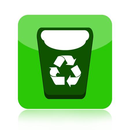 papelera de reciclaje: La papelera de reciclaje icono verde