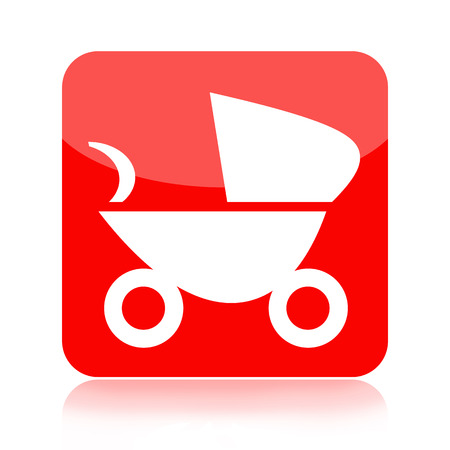 Baby carriage icon isolated on white background photo