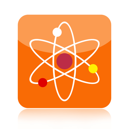 PROTON: Atom science icon isolated on white background